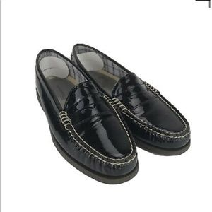 Sperry Black Patent Leather Loafers